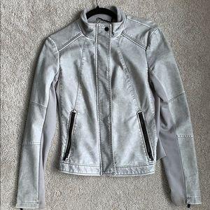 Express Grey Leather Jacket